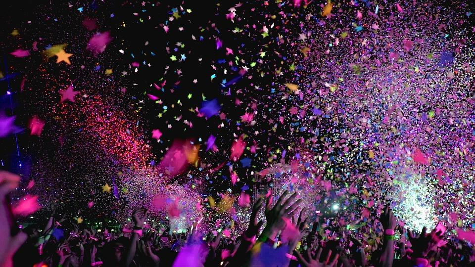 Concert, Confetti, Party, Event, Club, Fun